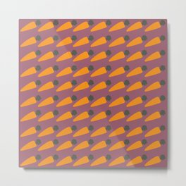 Carrot Patch Metal Print