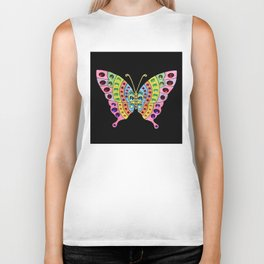 Jeweled Butterfly Biker Tank