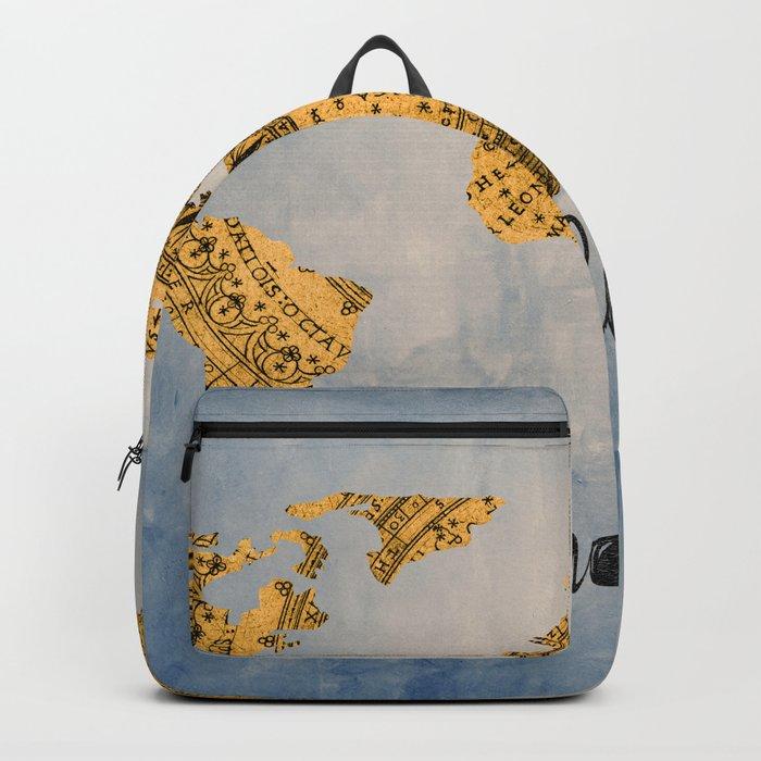 Wanderlust World Map Backpack