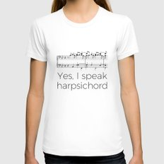 I speak harpsichord Womens Fitted Tee SMALL White