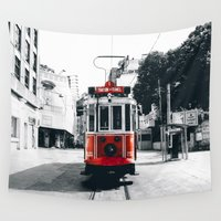 istanbul Wall Tapestries featuring Istanbul - Taksim by Ruveyda & Emre
