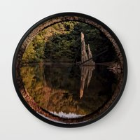 geology Wall Clocks featuring Mystical stone arch by UtArt