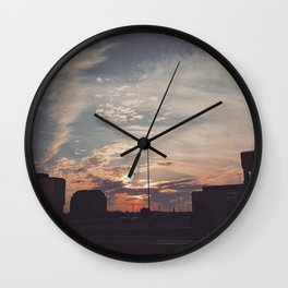 Carrefour Laval at Dusk Wall Clock