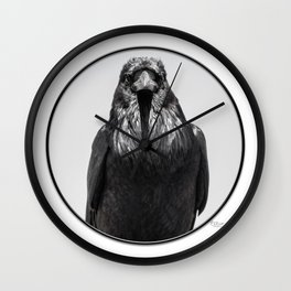 Crow 2 Wall Clock