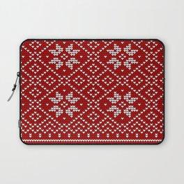 Christmas Snowflake Wool Pattern Laptop Sleeve