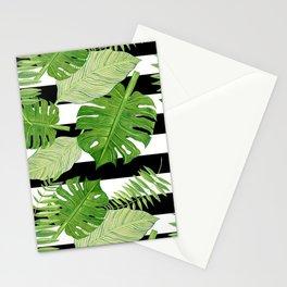 Tropical Leaf Mix III Stationery Cards