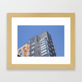 Complimentary Buildings Framed Art Print