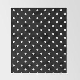 Black And White Polka Dot Art Throw Blanket