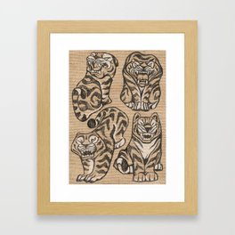 Stone Tigers Framed Art Print