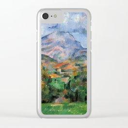 """Paul Cezanne """"Mont Sainte-Victoire"""", c.1890 Clear iPhone Case"""