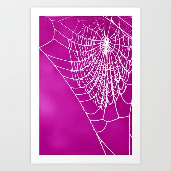 FUCHSIA WEB Art Print