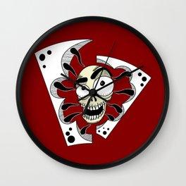 skullred Wall Clock