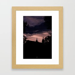 Stormy Night in Montreal Framed Art Print