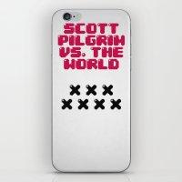 scott pilgrim iPhone & iPod Skins featuring Scott Pilgrim vs. The World by Martin Lucas