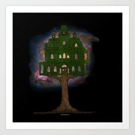 Cosmos Tree House Art Print