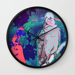 Cosmic Cockatoo Wall Clock