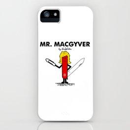 Mr Macgyver iPhone Case