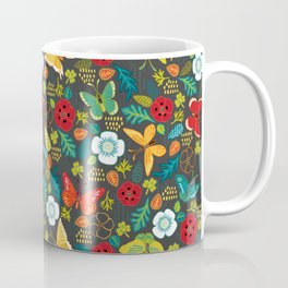 The Butterfly Garden - Charcoal Coffee Mug