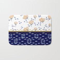 Stitched poppies Bath Mat
