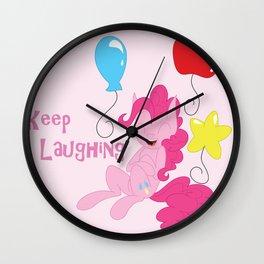 Keep Laughing Wall Clock