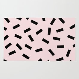 Funky eighties fresh colors graphic memphis design Rug