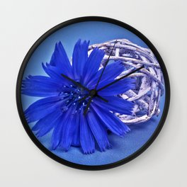 Still life with chicory flower Wall Clock