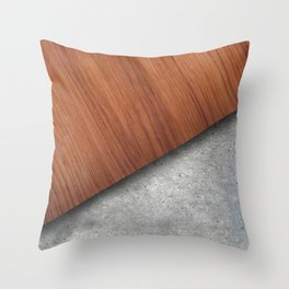 Wood and concrete mix Throw Pillow