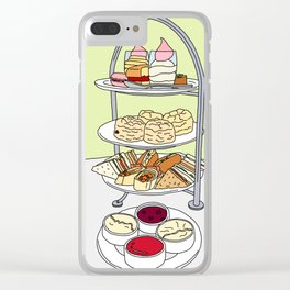 English Afternoon Tea Clear iPhone Case