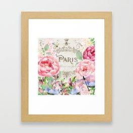 Paris Flower Market III Framed Art Print