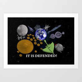 It Is Defended! Art Print