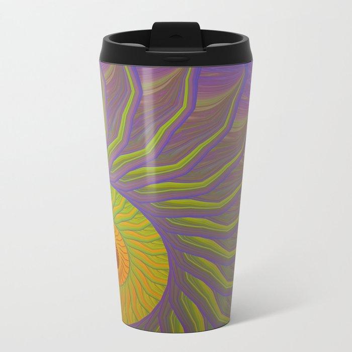 Fantasy Nautilus shell abstract Metal Travel Mug