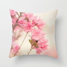 Pink Azaleas Throw Pillow