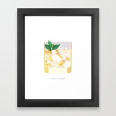 Cocktail Hour: Mint Julep Framed Art Print