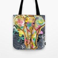 ellie goulding Tote Bags featuring Ellie by SannArt