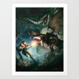 Metroid Art Print