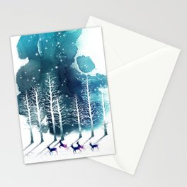 Winter Night 2 Stationery Cards