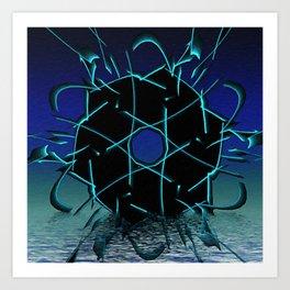 Black Geometry Art Print