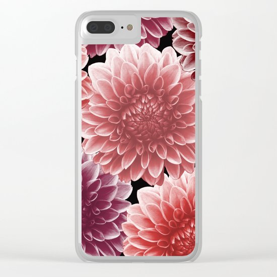 DAHLIAS (flowers abstract pattern) Clear iPhone Case