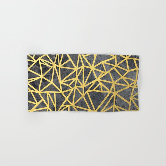 Ab Marb Gold Hand & Bath Towel