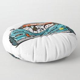 Crazy Car Art 0156 Floor Pillow