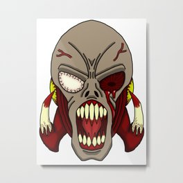 Horror of the Dead Metal Print