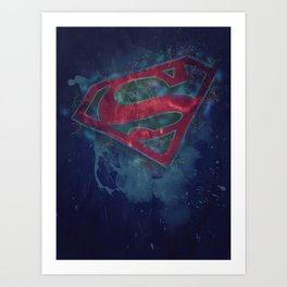 Superman Splat Test Art Print