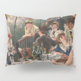 Luncheon of the Boating Party Painting, Pierre-Auguste Renoir Pillow Sham