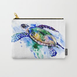 Swimming Sea Turtle Carry-All Pouch