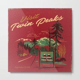 WELCOME TO TWIN PEAKS Metal Print