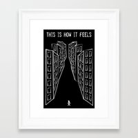 depression Framed Art Prints featuring Depression by mailboxdisco