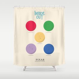 Inside Out - Minimal Movie Poster, animated movie, Shower Curtain