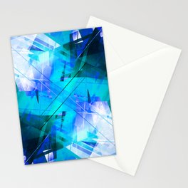 Vaporwave - Geometric Abstract Art Stationery Cards
