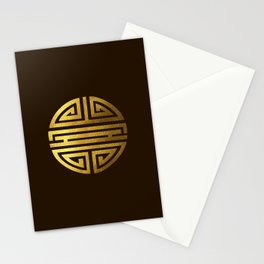 Four blessings Gold Stationery Cards