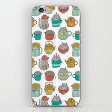 Pattern Project #5 / Cats and Pots iPhone & iPod Skin